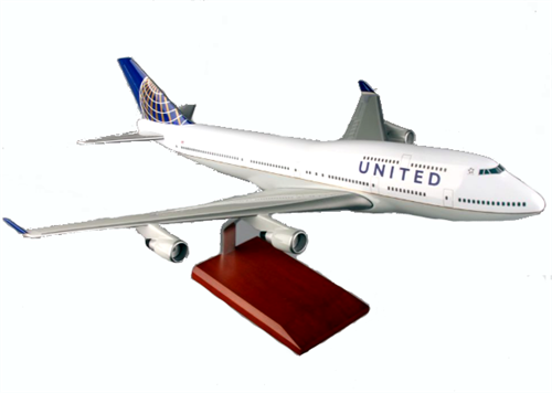 UNITED 747-400 1/100 POST CONTINENTAL MERGER
