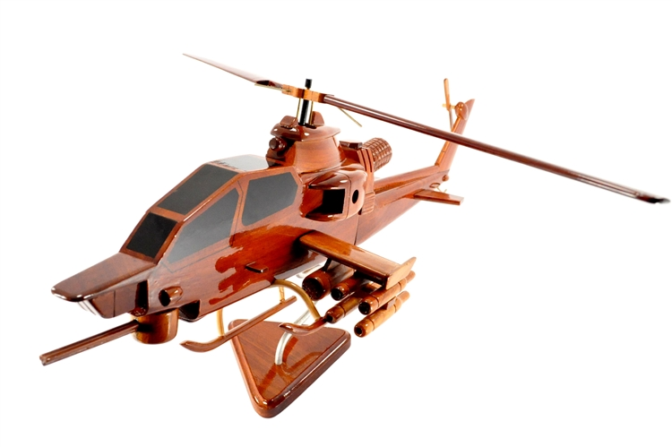 CH-47 Chinook Helicopter Handcrafted Natural Mahogany Premium Wood Desk Model