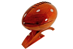 Wooden Football Wood Gift