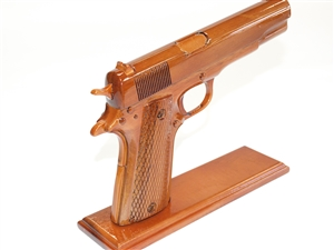 45 Caliber Wood Handgun