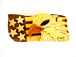 Air Force, Puzzle Box, Military, Gift, Wood, Hand carved, mahogany, insignia, Navy, Special forces, Baseball, basketball, US Flag